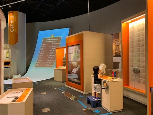 みなと科学館の常設展示コーナー