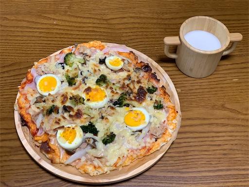 ホットケーキミックスで作るピザ