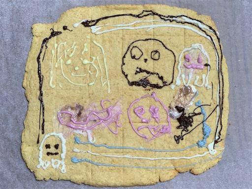 でかクッキーにお絵かき作品