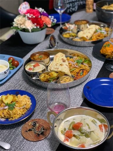 南インド料理でホームパーティー