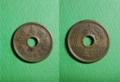 日本「國」になってる旧5円硬貨。なおさほど珍しくはない模様