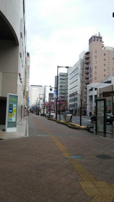 翌朝の高崎市街