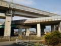 [石川県]上から北陸新幹線、北陸自動車道、IRいしかわ鉄道(2017.1.20)