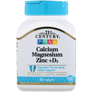 21st Century カルシウムマグネシウム亜鉛+D3