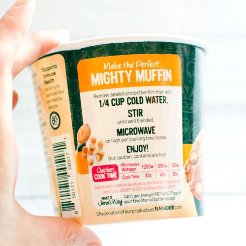 FlapJacked プロバイオティクス配合マイティマフィン ピーナッツバター 1.94 oz (55 g)