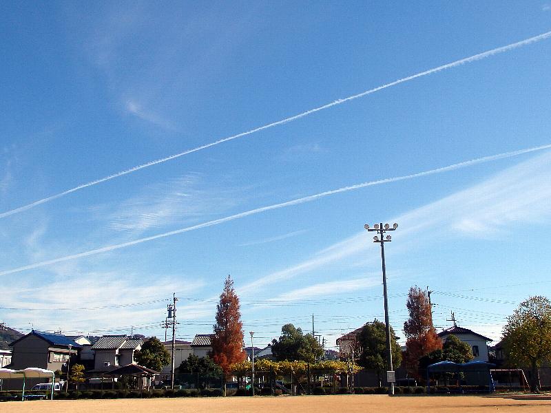 [飛行機雲]
