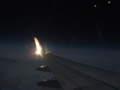 帰路の飛行機