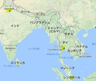 デリー周辺の地図
