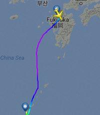 台風で影響された進路