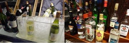 香港マリオットのワイン、ウイスキー