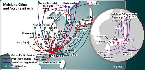 cxアジアの路線
