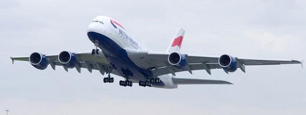 ブリティッエアウェイズのA380