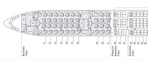 キャセイA330のシート