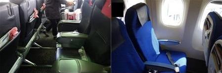 JALとANAのシートを比較