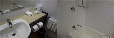 ホリデイインのバスルーム