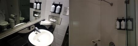 カンタスラウンジのシャワー