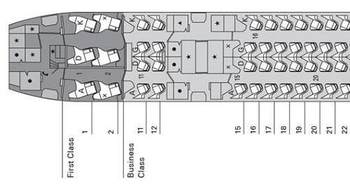 キャセイB77Wのシートマップ