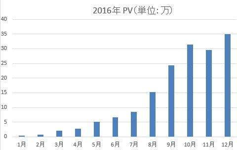 1年のPV推移