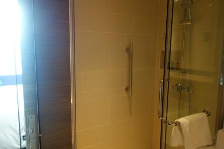 ヒルトン香港のシャワー室