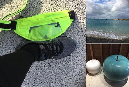 沖縄でジョギング