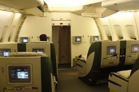 エバー航空の機内