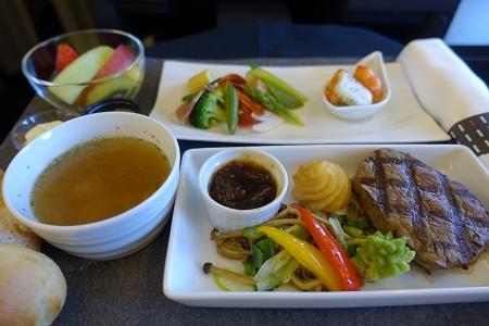 JAL上海線ビジネスの機内食