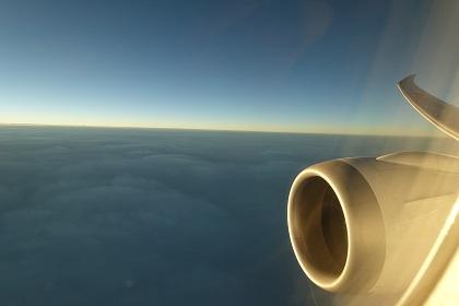 JAL機から見た上空