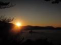 竹野浜に沈む夕日