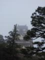 霧の高知城
