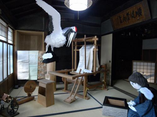奈良・高取 町家かかし テーマ「夕鶴」