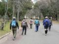 2012.01.14 講習会(大阪城公園) 経験者は1本で歩いて左右の腕振りの