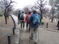 2012.02.15 講習会(大阪城公園) 梅林の中を歩く