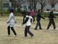 2012.03.10 講習会(大阪城公園) いつもと違った練習法に真剣です