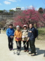 2012.03.21 講習会(大阪城公園) 梅林にてポーズ