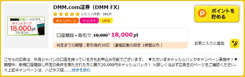 DMM.com証券 (DMM FX)の広告ページ
