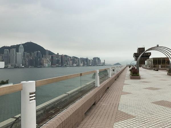 ホテル前の桟橋