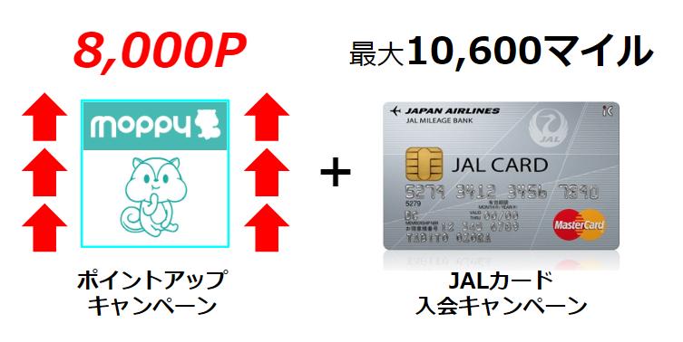 JALカード新規入会発行で8,000P!JALマイル最強モッピーのポイントアップキャンペーン!!
