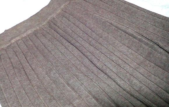 ANDJの人気ロング丈ニットスカート3