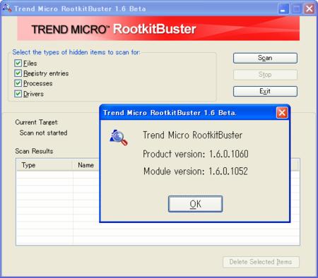 RootkitBuster 1.6.1060