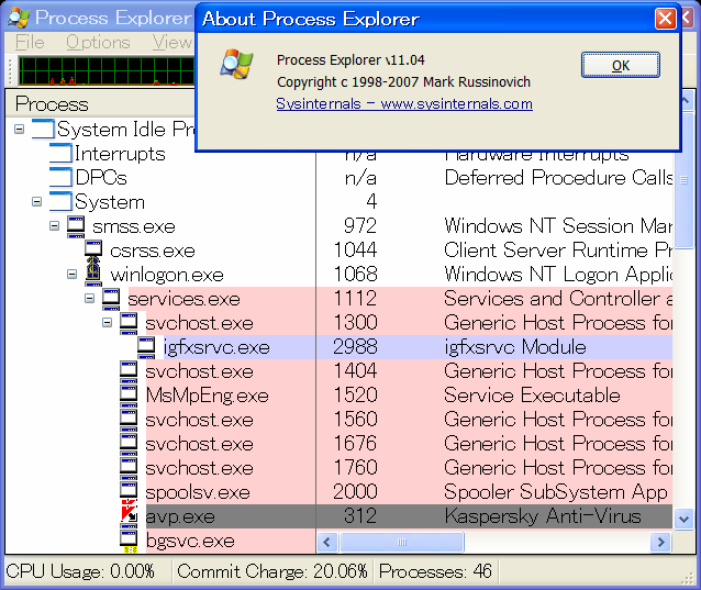 ProcessExplorer 11.04