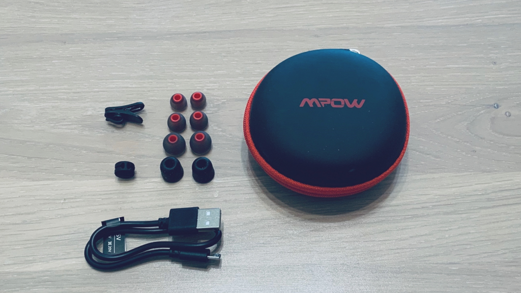 Mpow Bluetoothイヤホン付属品