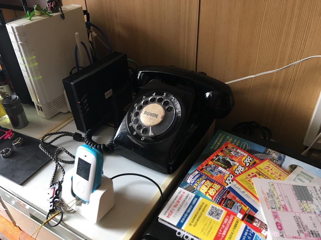 ブラザー 家庭向けプリンター・複合機のMFC-930CDN と 昭和遺産 黒電話