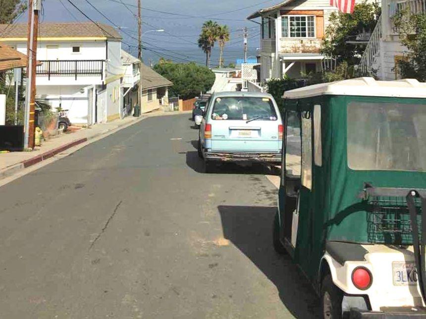 カタリナ島のゴルフカート