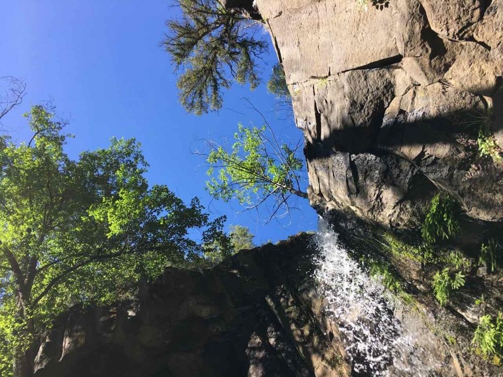 Hedge Creek Fallsを見上げたところ