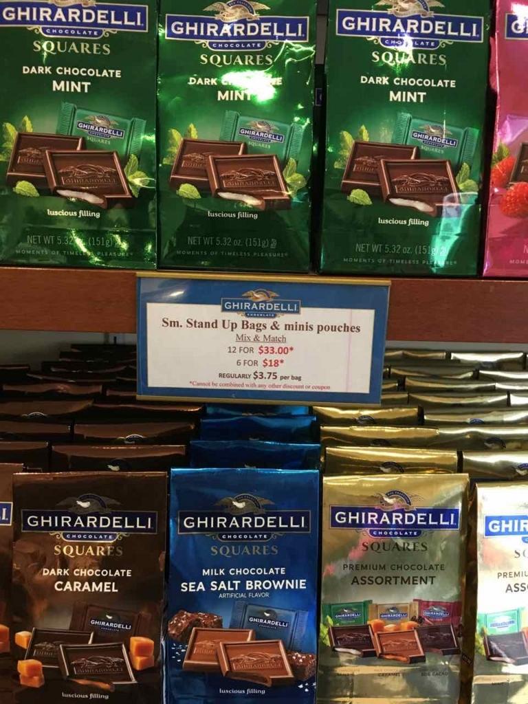 アウトレットモールで販売しているギラデリチョコレート