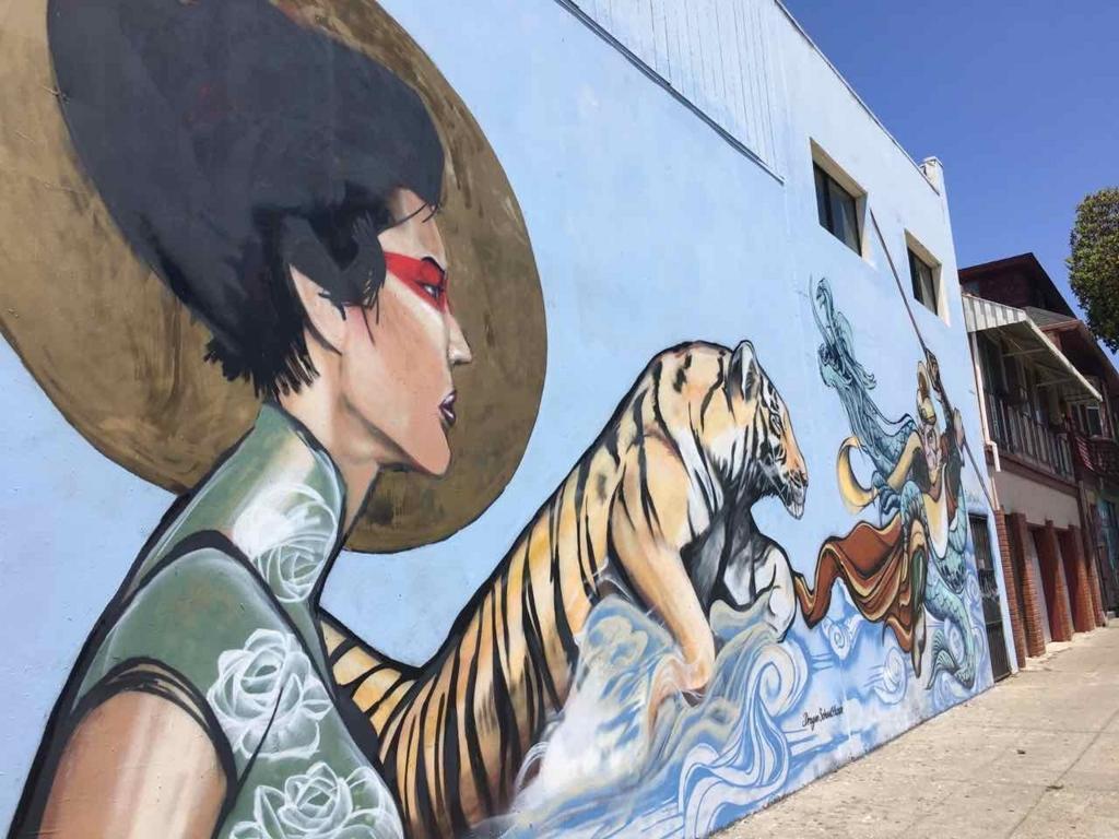 チャイナタウンのストリートアート