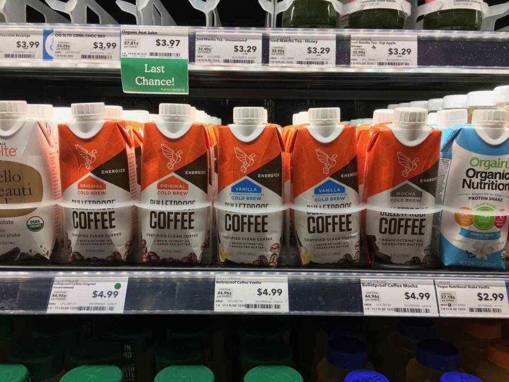 高級スーパーに並ぶバターコーヒー