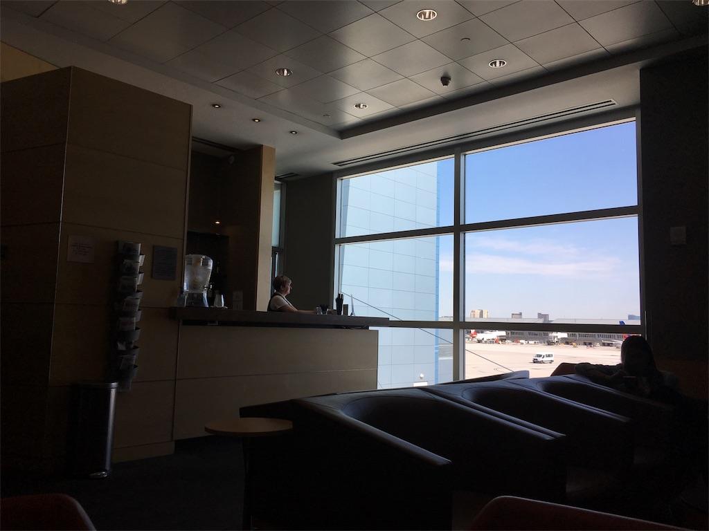 ラスベガス空港のラウンジ