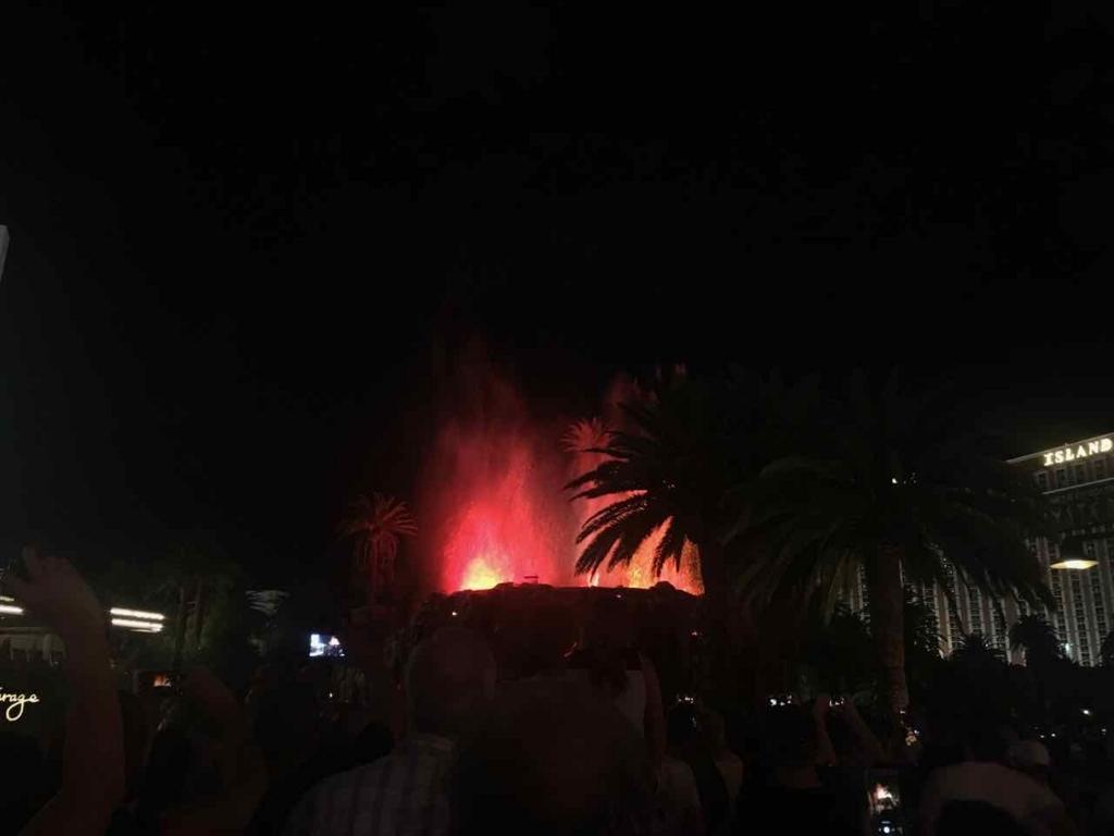 ミラージュホテルの火山噴火ショー