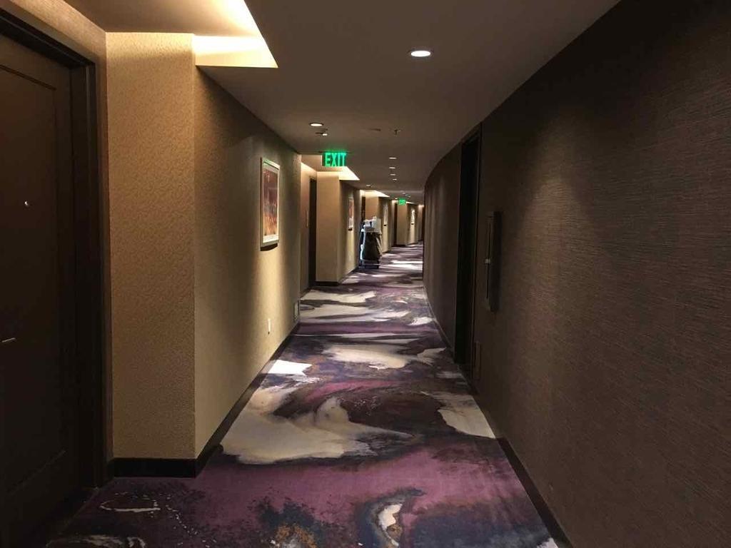 Ariaホテルの廊下